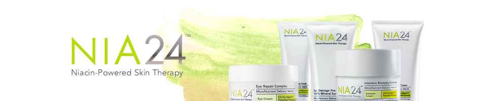 Niacin-based products.  To repair sensitive, damaged and stressed skin.  Restores skin, makes it stronger and reverses aging.