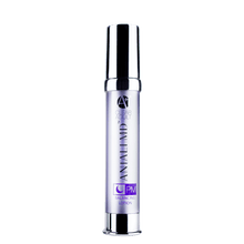 Load image into Gallery viewer, ANJALI MD Adult Acne PM Balancing Lotion printed on the front of A tall chrome bottle