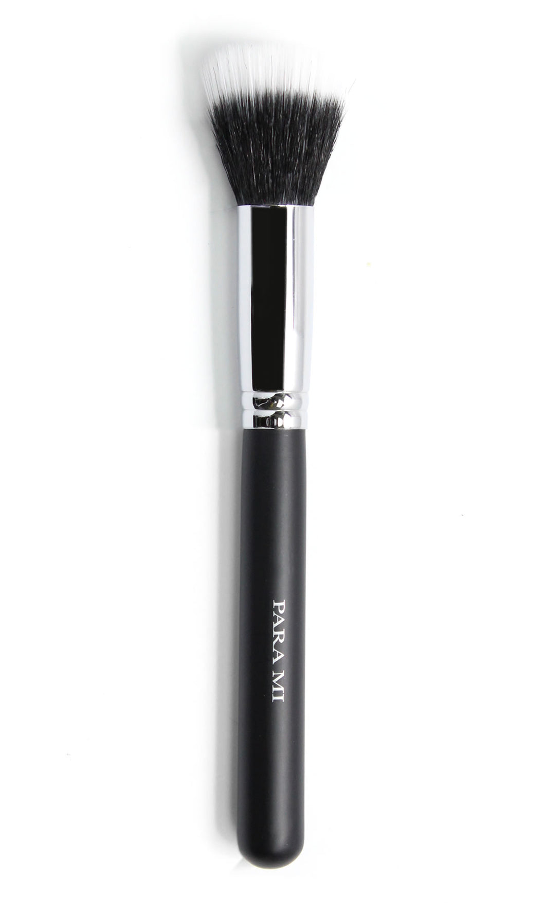 Duet Stippling Brush 951, a black and chrome brush, about 10 inches long  with the PARA MI logo printed on the handle.