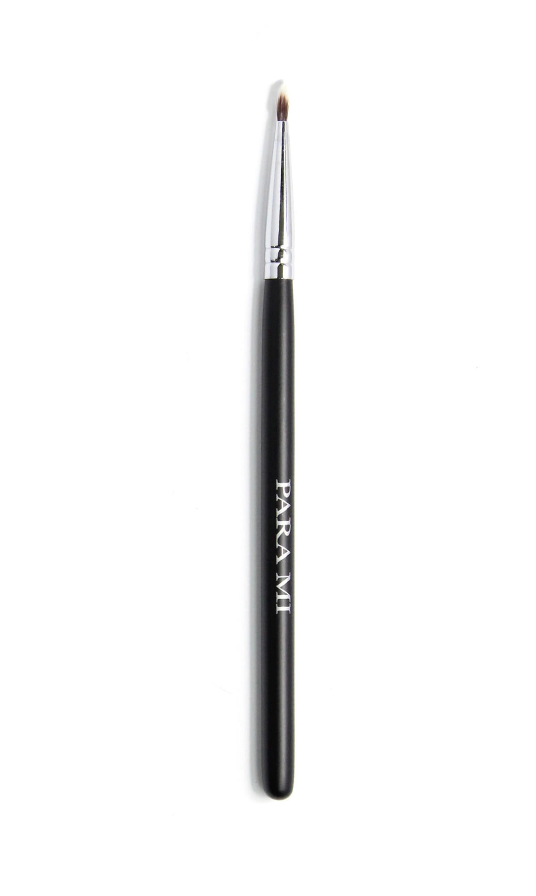 Fine Liner Brush 323, a black and chrome brush, about 10 inches long  with the PARA MI logo printed on the handle.