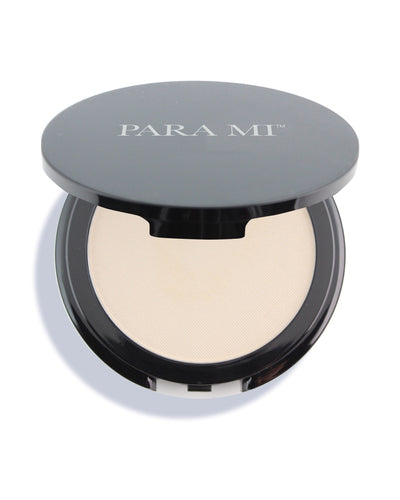 Beyond Mineral Foundation in a 3 inch black compact with the PARA MI logo on the front.