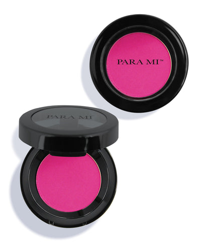 Artist Blush Matte container, See swatches for different colors - Container is a flip open container approx 2 in wide, circular and has PARA MI printed on the front.