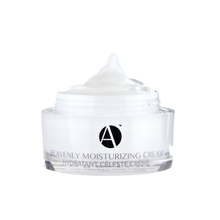 Load image into Gallery viewer, Heavenly Moisturizing Cream pictured alone with the cap off and the cream peaking out the top.