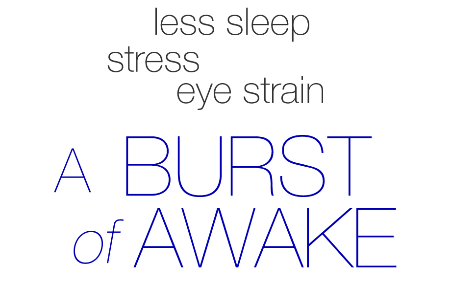 LASER EYE LIFT Less sleep stress eye strain, a burst of awake