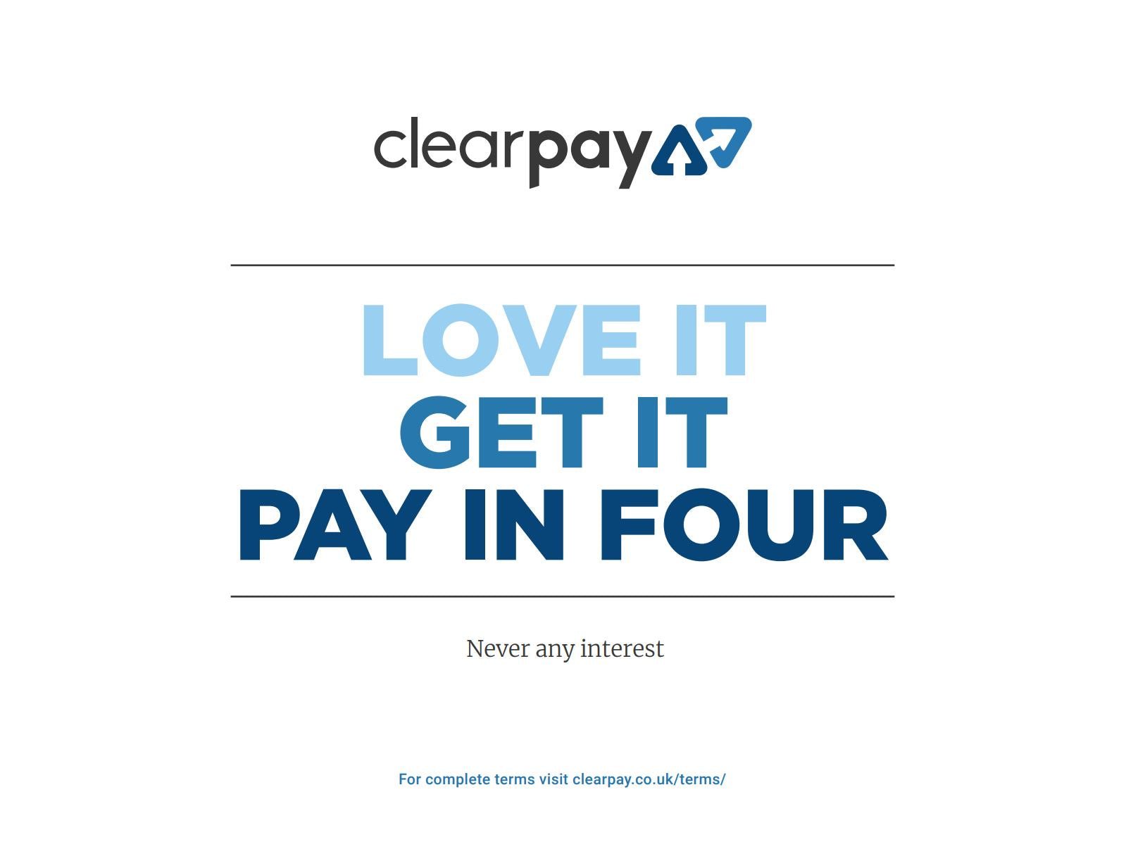 Buy now pay later with Clearpay