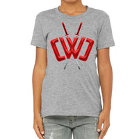 Liquid Logo Athletic Heather Tee - Youth
