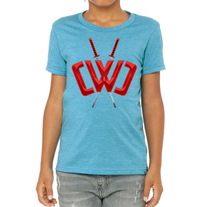 Liquid Logo Neon Blue Tee - Youth