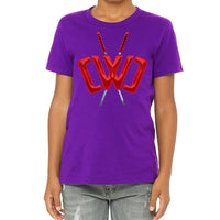 Liquid Logo Purple Tee - Youth