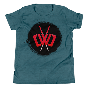 Scorched Logo Heather Teal Tee - Youth