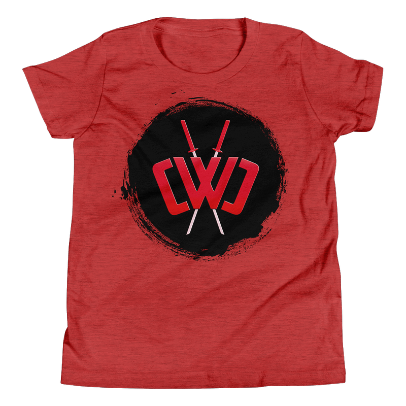 Scorched Logo Heather Red Tee - Youth
