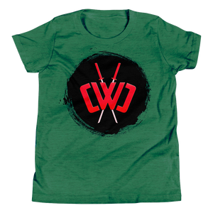 Scorched Logo Heather Green Tee - Youth