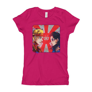 Warriors Raspberry Tee - Girls