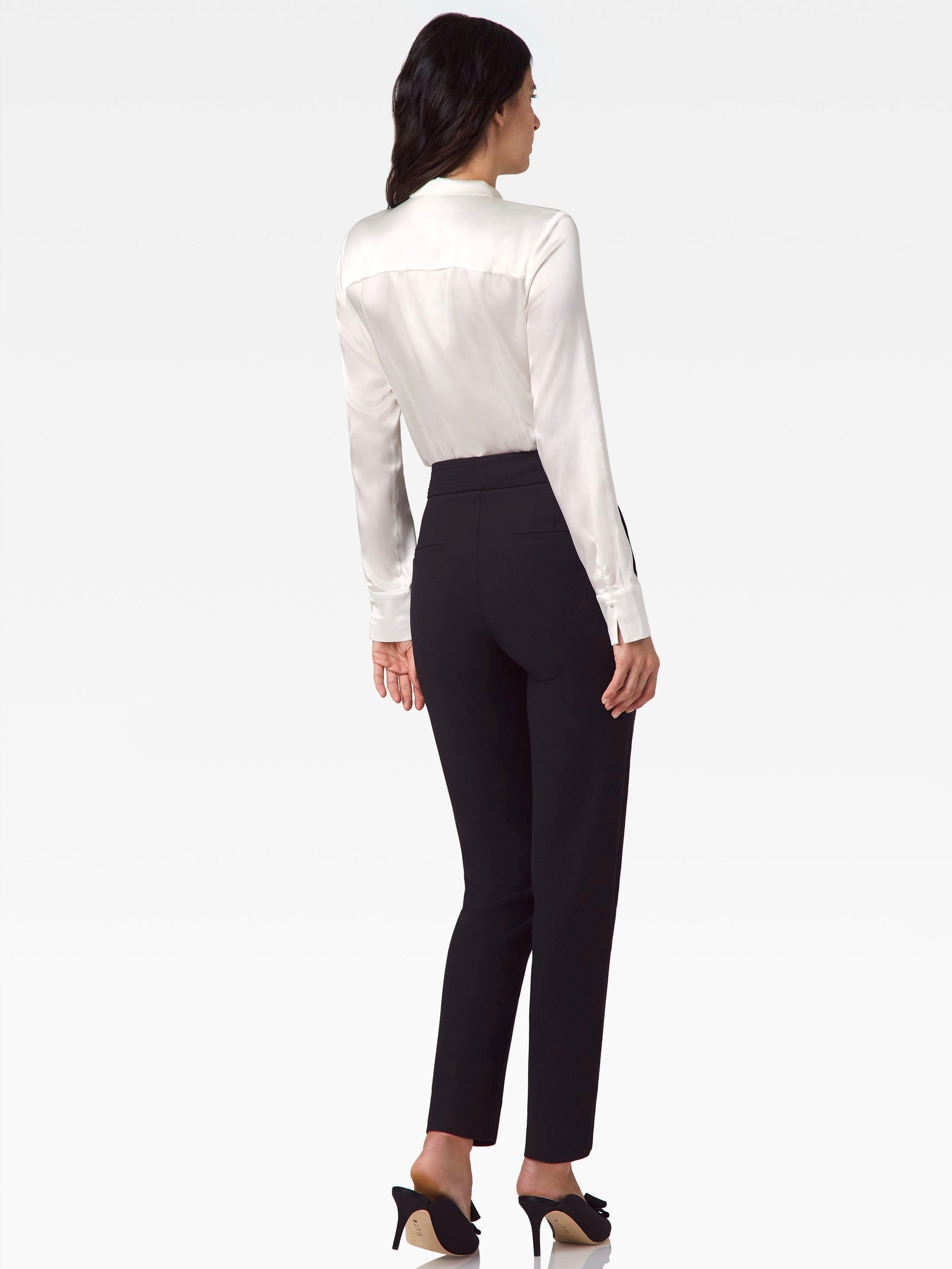 Garbo Stretch Crepe Pants