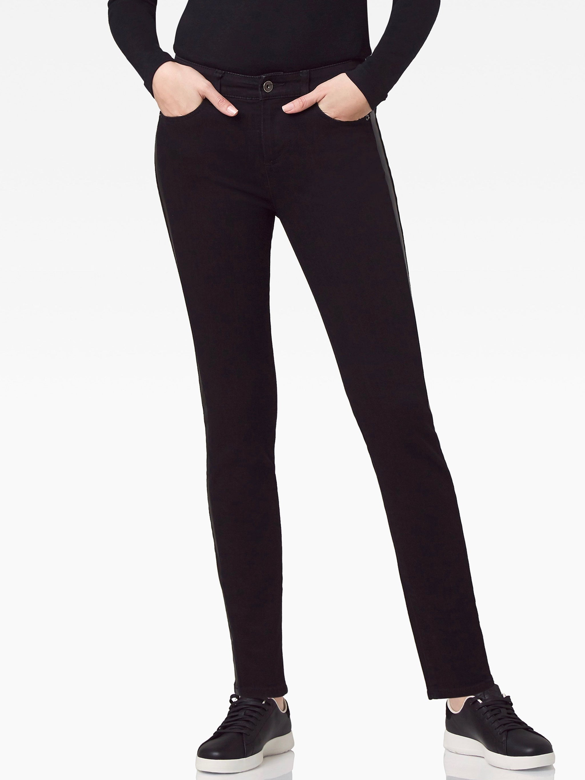 Beverly Skinny Jean with Leather Insert