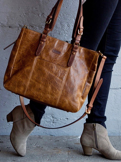 TAZ Signature Leather Tote