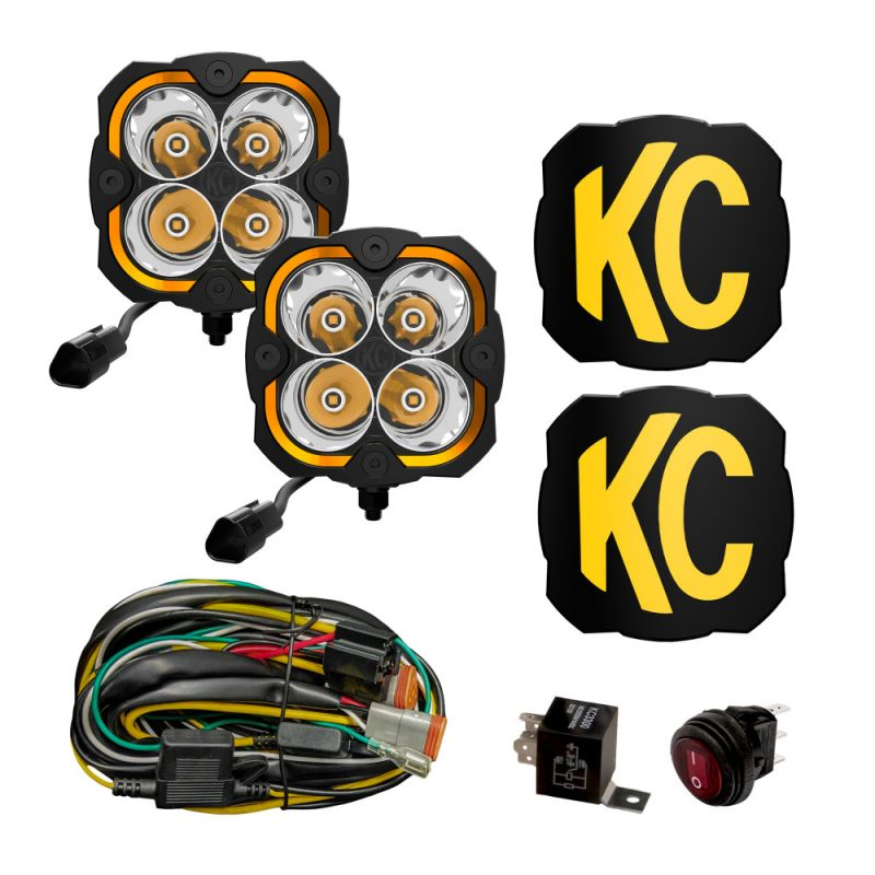 KC HiLites FLEX ERA 4-2-Light System - 80W Spot Beam