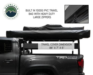 Overland Vehicle systems 18049909 OVS Nomadic Awning 2.0 - 6.5' With Black Cover Universal