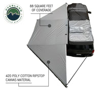 Overland Vehicle systems 19609907 OVS Nomadic Awning 180 - Dark Gray Cover With Black Cover Universal