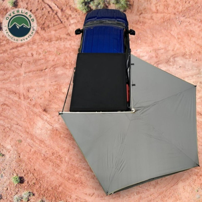 Overland Vehicle systems Nomadic 270 LT Awning - Passenger Side 19569907- Dark Gray Cover With Black Cover Universal