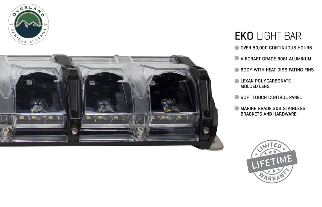 "Overland Vehicle Systems EKO 20"" LED Light Bar With Variable Beam, DRL, RGB, 6 Brightness"