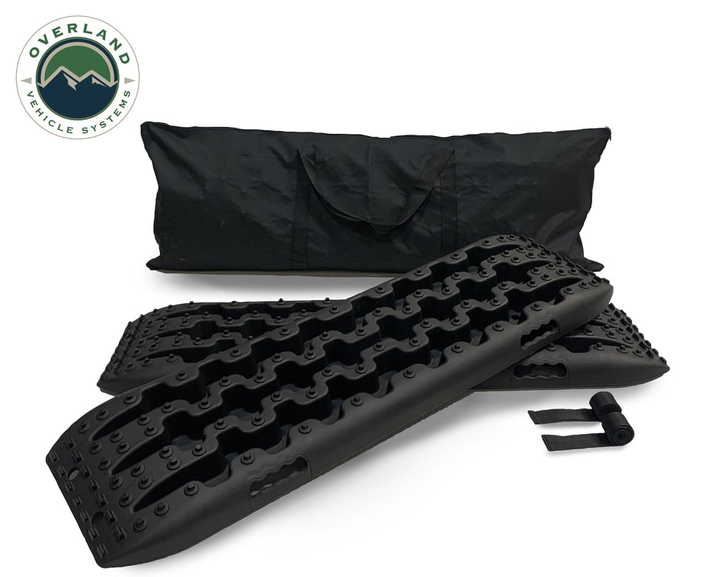 Overland Vehicle Systems Recovery Ramp / Traction Boards with Pull Strap and Storage Bag maxtrax