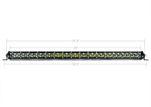 "Cali Raised LED 32"" Slim Single Row LED Light Bar (Amber)"