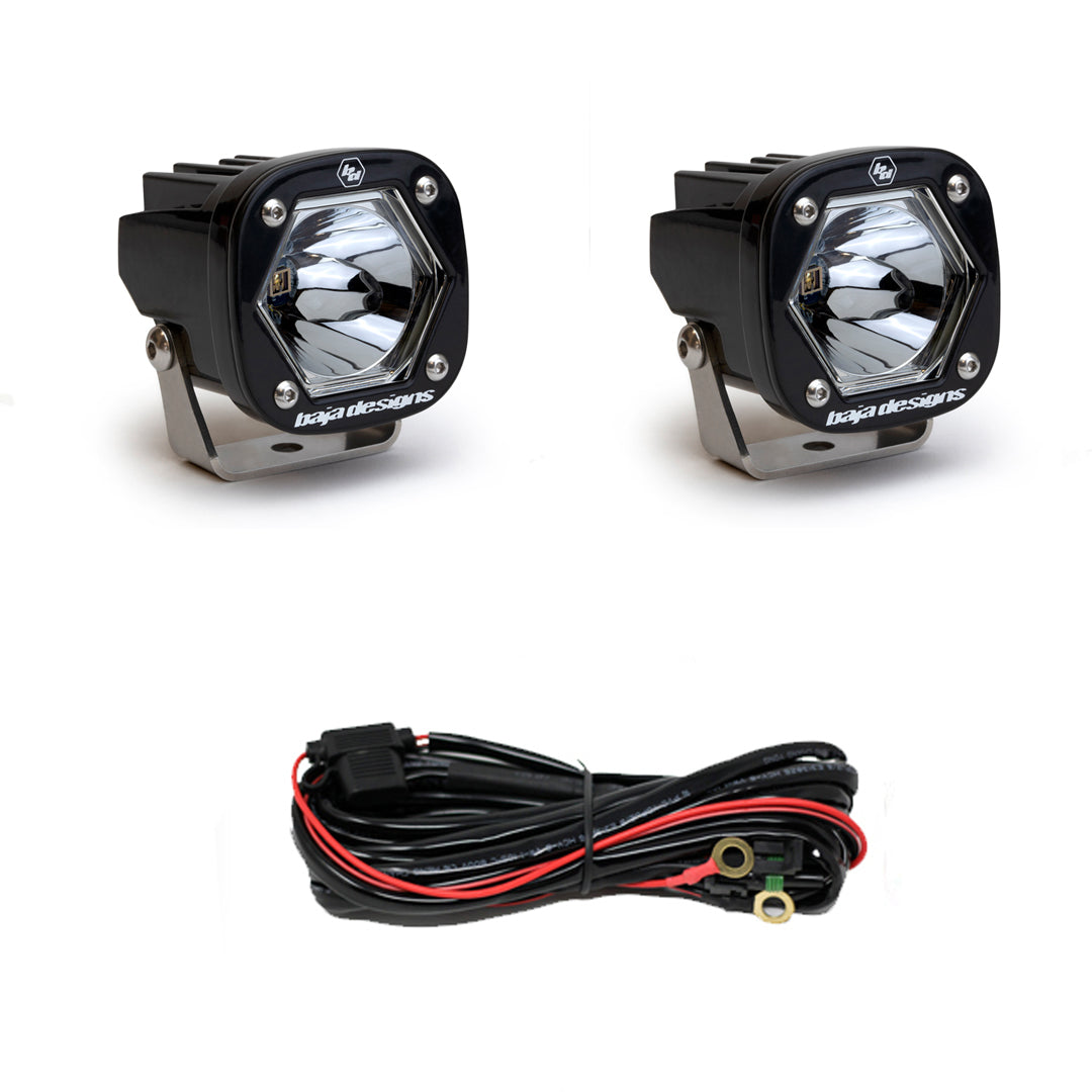 Baja Designs Black S1 LED Light - Pair