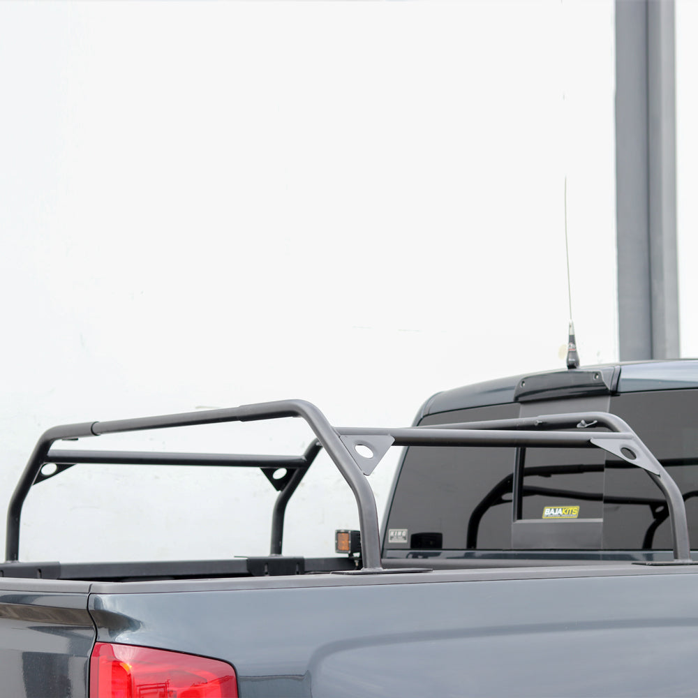 Tuff Stuff Rooftop Tent Truck Bed Rack, Adjustable, Powder Coated, Black, 40″ & 57