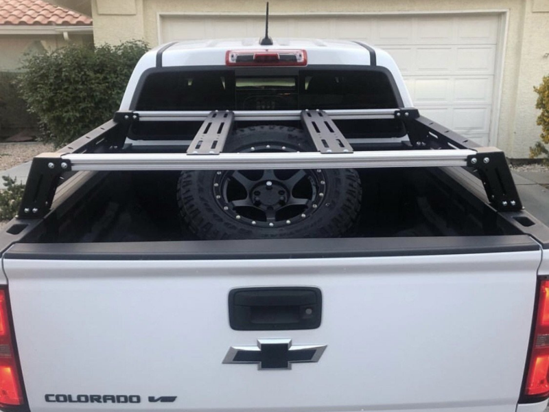 Cali Raised LED Chevy Colorado Overland Bed Rack