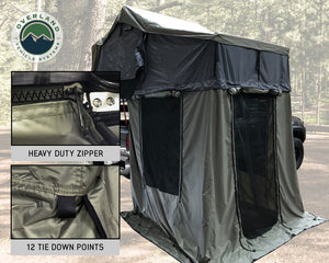Overland Vehicle Systems Nomadic 2 Annex Green Base With Black Floor & Travel Cover