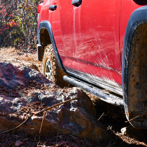 LFD Off Road 2010-2020 5th Gen 4runner Rock Sliders - Angled, Bolt On .185 wall DOM