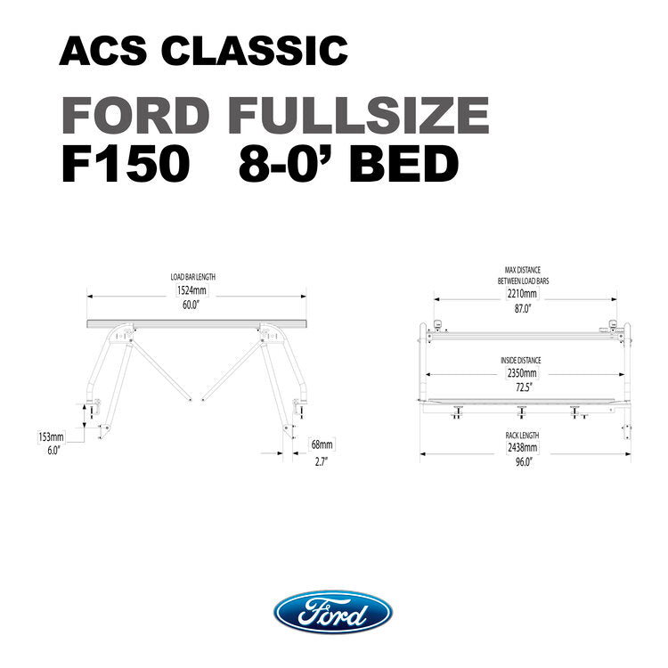 Leitner Active Cargo System ACS Classic Bed Rack - Ford
