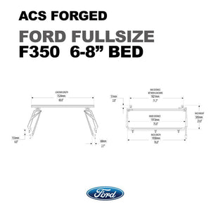 Leitner Active Cargo System ACS Forged Bed Rack - Ford