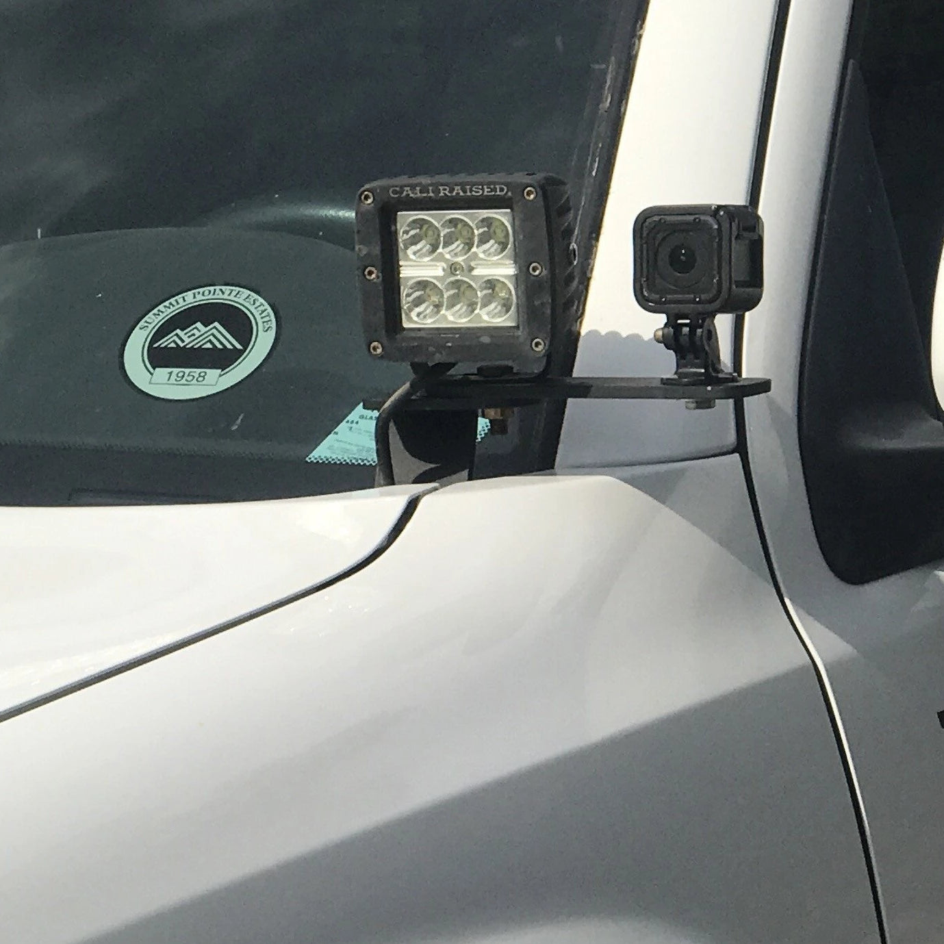 Cali Raised LED Ditch Light Bracket Extensions