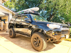 Cali Raised LED 2014-2020 Toyota 4Runner 20 Degree Bolt On Rock Sliders