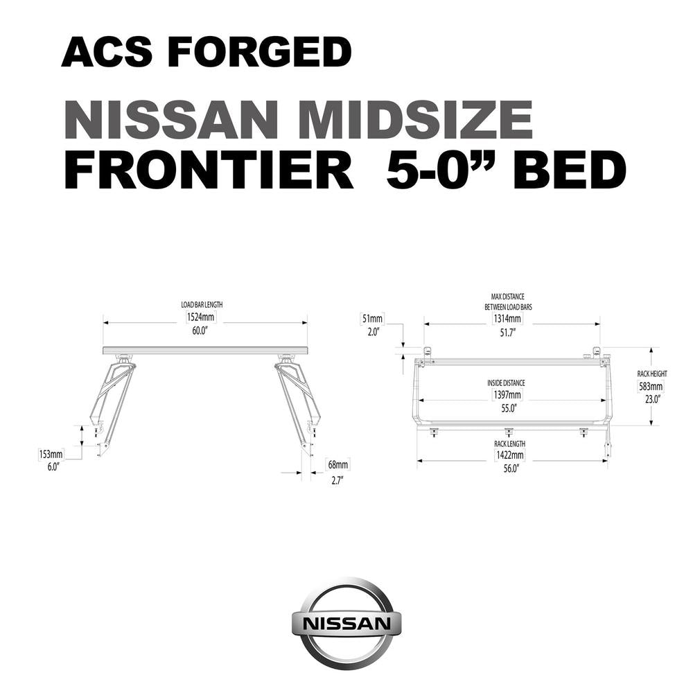 Leitner Active Cargo System ACS Forged Bed Rack - Nissan Frontier / Titan