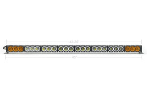 "Cali Raised LED - 43"" Amber/White Dual Function LED Light Bar"