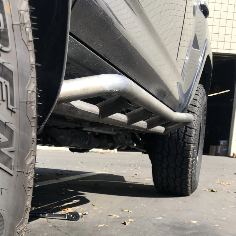 Cali Raised LED 2014-2021 Toyota 4Runner 20 Degree Bolt On Rock Sliders