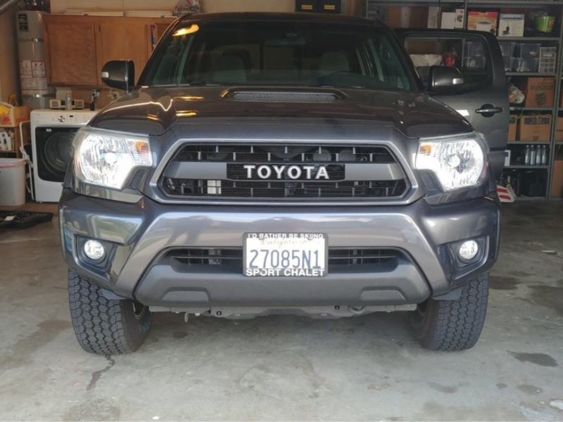 tacoma toyota grille faux grill trd cali led raised roof overland