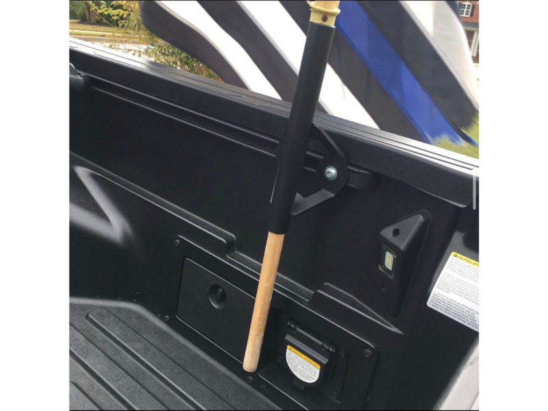 Cali Raised LED Toyota Truck Bed Rail Flag Pole Mount