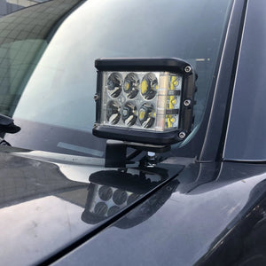 Cali Raised LED 2005-2015 Toyota Tacoma Low Profile LED Ditch Light Brackets / Combo