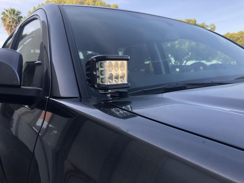 Cali Raised LED 2016-2021 Toyota Tacoma Low Profile LED Ditch Light Brackets / Combo