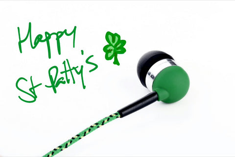 Green St Patty's Day Headphones