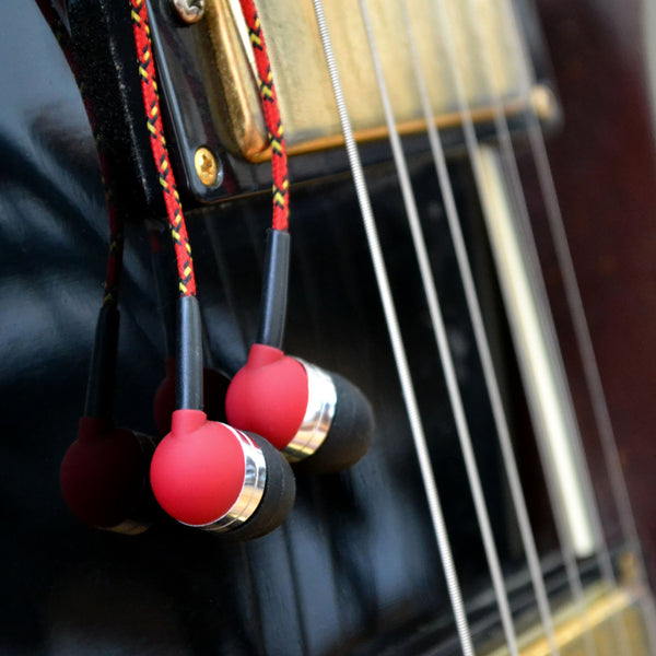 Braided Headphones & Guitar