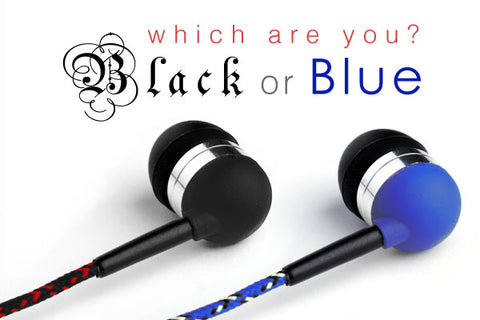 Black and Blue Earbuds