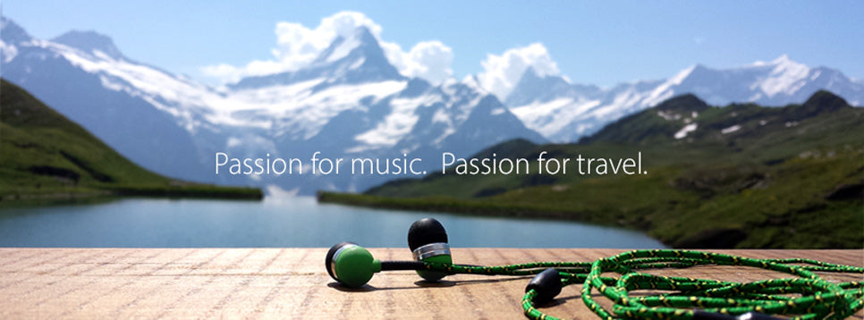 Tweedz Braided Headphones - Passion for music. Passion for travel.