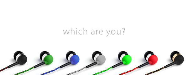 Colorful Braided Earbuds