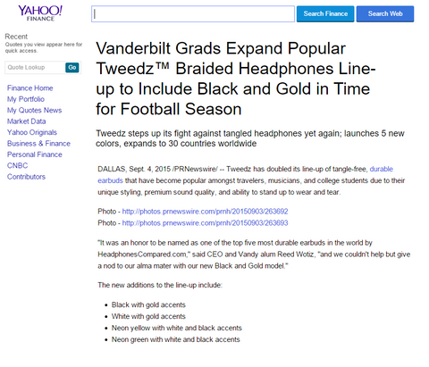 Yahoo Tweedz Launch Coverage