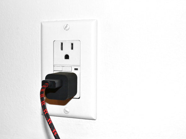 Black & Red Braided MicroUSB to USB Cable & Wall Charger