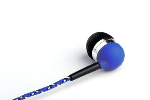 Blue Earbuds with Microphone & Remote Control